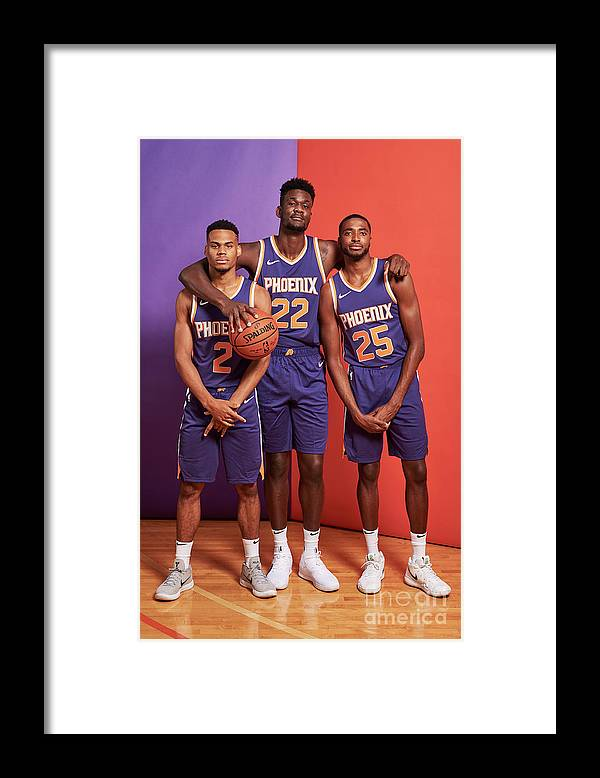 Nba Pro Basketball Framed Print featuring the photograph 2018 Nba Rookie Photo Shoot by Jennifer Pottheiser