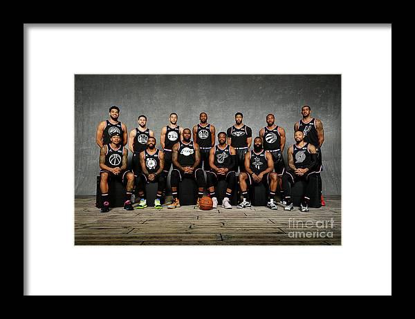 Nba Pro Basketball Framed Print featuring the photograph 2019 Nba All Star Portraits by Jesse D. Garrabrant
