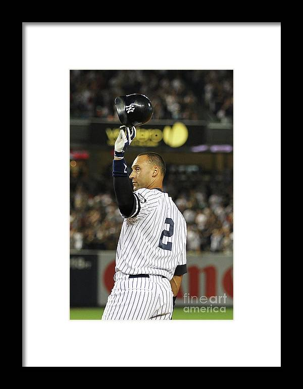 Second Inning Framed Print featuring the photograph Boston Red Sox V New York Yankees 14 by Al Bello