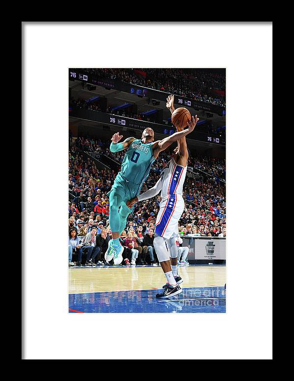 Nba Pro Basketball Framed Print featuring the photograph Charlotte Hornets V Philadelphia 76ers by Jesse D. Garrabrant