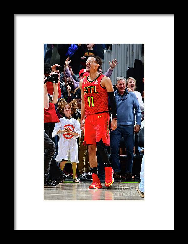 Atlanta Framed Print featuring the photograph Milwaukee Bucks V Atlanta Hawks by Scott Cunningham