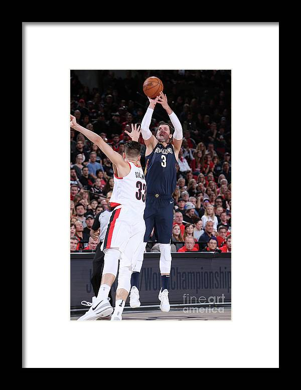 Playoffs Framed Print featuring the photograph New Orleans Pelicans V Portland Trail by Sam Forencich