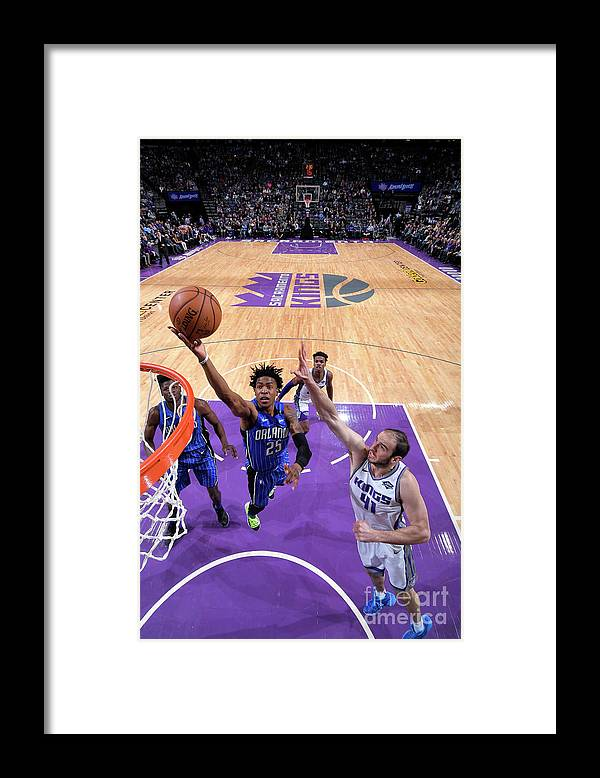 Nba Pro Basketball Framed Print featuring the photograph Orlando Magic V Sacramento Kings by Rocky Widner