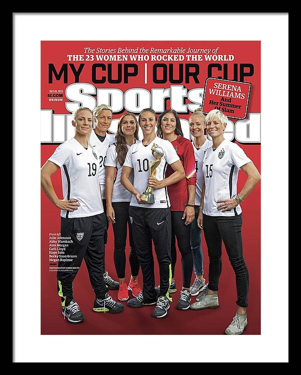 Us Womens National Team 2015 Fifa Womens World Cup Champions Sports Illustrated Cover Framed Print