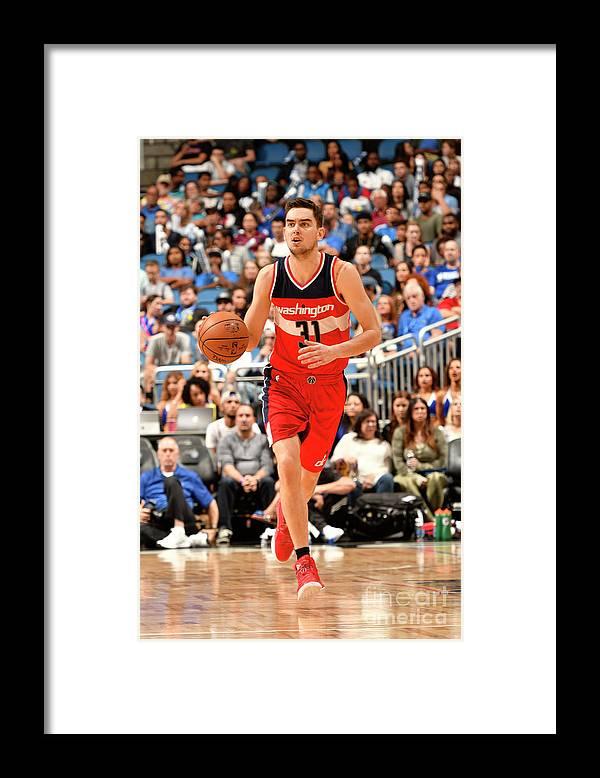 Nba Pro Basketball Framed Print featuring the photograph Washington Wizards V Orlando Magic by Fernando Medina