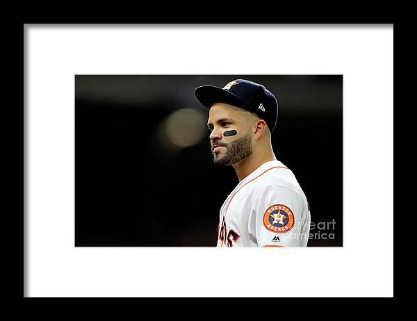 American League Baseball Framed Print featuring the photograph World Series - Washington Nationals V by Elsa
