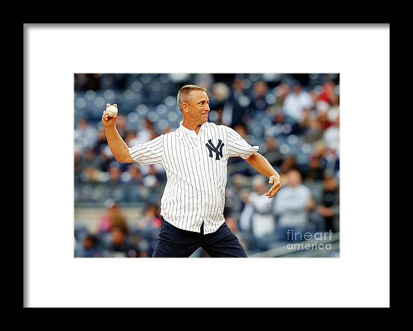 American League Baseball Framed Print featuring the photograph Baltimore Orioles V New York Yankees by Jim Mcisaac
