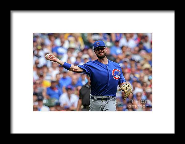 Three Quarter Length Framed Print featuring the photograph Chicago Cubs V Milwaukee Brewers 15 by Dylan Buell