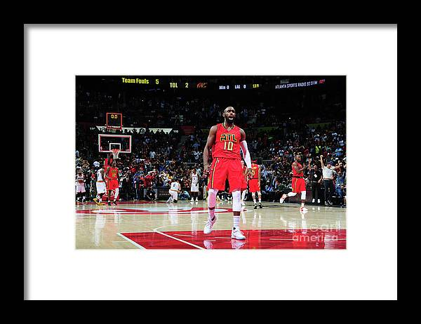 Atlanta Framed Print featuring the photograph Cleveland Cavaliers V Atlanta Hawks by Scott Cunningham