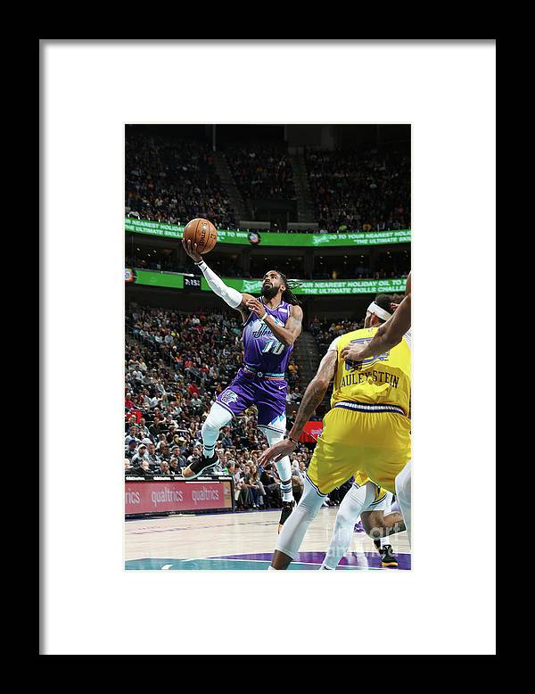 Nba Pro Basketball Framed Print featuring the photograph Golden State Warriors V Utah Jazz by Melissa Majchrzak