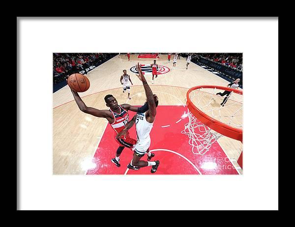 Nba Pro Basketball Framed Print featuring the photograph Minnesota Timberwolves V Washington by Ned Dishman