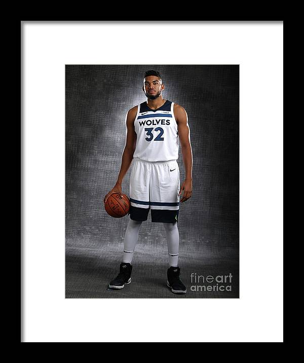 Media Day Framed Print featuring the photograph 2017-18 Minnesota Timberwolves Media Day by David Sherman