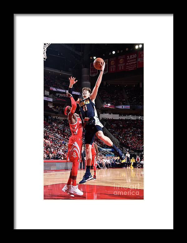 Nba Pro Basketball Framed Print featuring the photograph Denver Nuggets V Houston Rockets by Bill Baptist