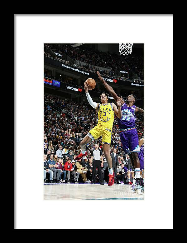 Nba Pro Basketball Framed Print featuring the photograph Golden State Warriors V Utah Jazz by Melissa Majchrzak