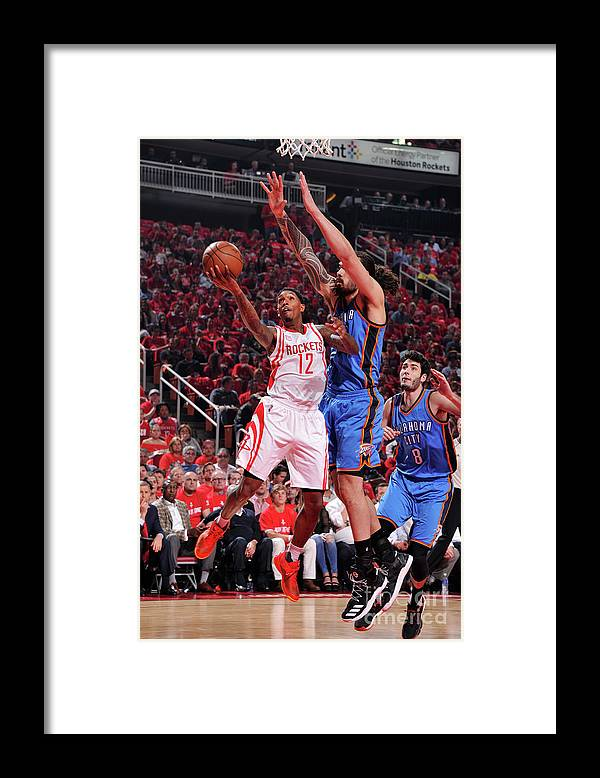 Playoffs Framed Print featuring the photograph Oklahoma City Thunder V Houston Rockets by Bill Baptist