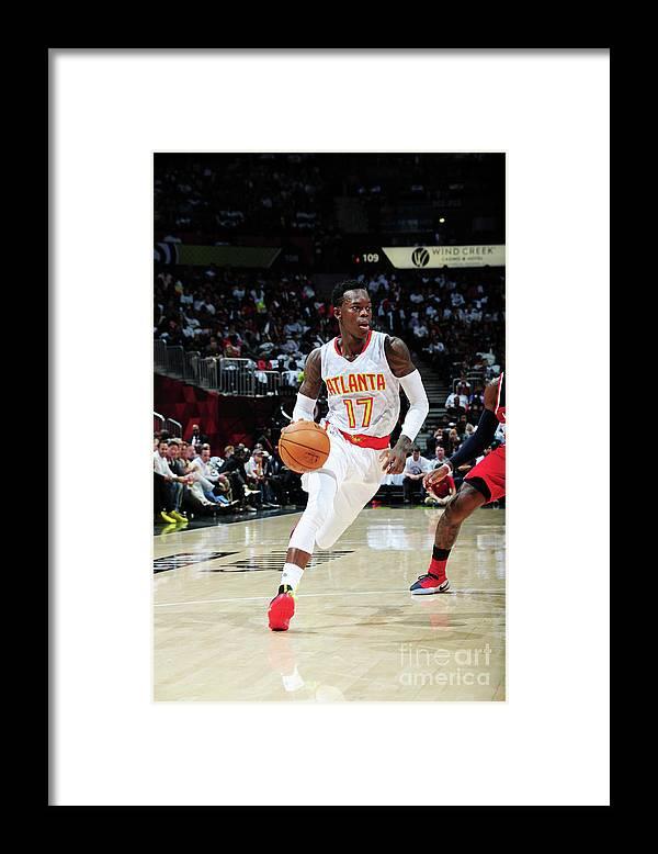 Atlanta Framed Print featuring the photograph Washington Wizards V Atlanta Hawks by Scott Cunningham