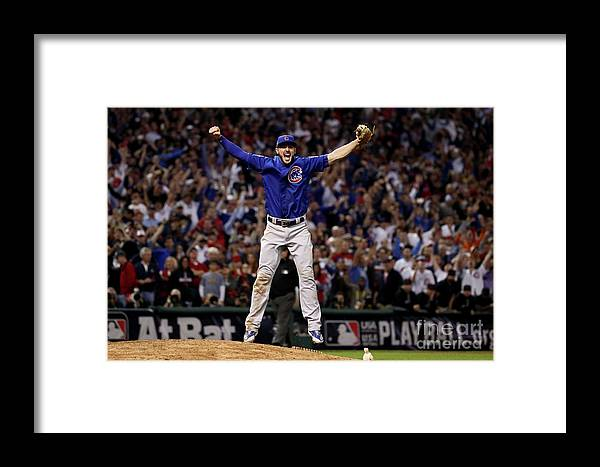 People Framed Print featuring the photograph World Series - Chicago Cubs V Cleveland 16 by Ezra Shaw