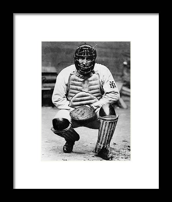Baseball Catcher Framed Print featuring the photograph National Baseball Hall Of Fame Library by National Baseball Hall Of Fame Library