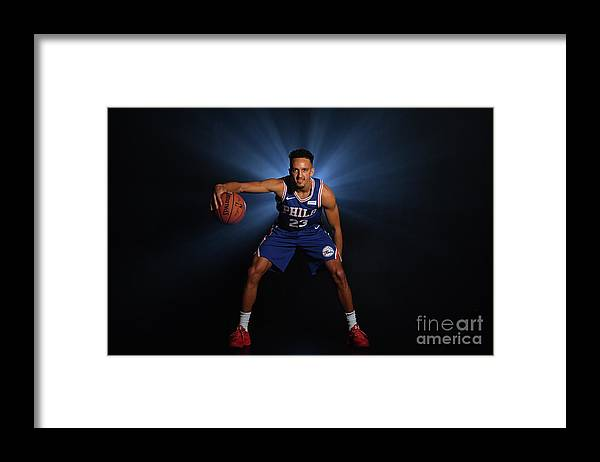 Nba Pro Basketball Framed Print featuring the photograph 2018 Nba Rookie Photo Shoot by Jesse D. Garrabrant