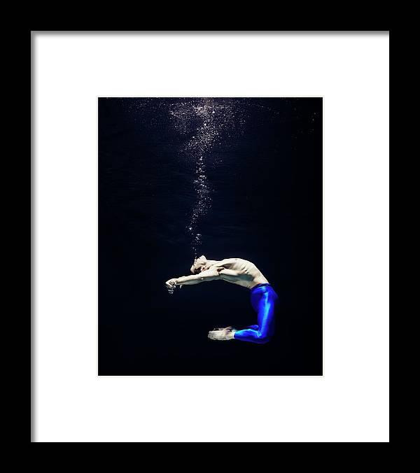 Ballet Dancer Framed Print featuring the photograph Ballet Dancer Underwater by Henrik Sorensen