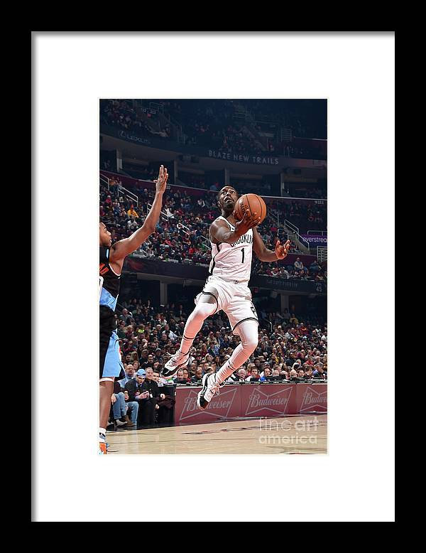 Nba Pro Basketball Framed Print featuring the photograph Brooklyn Nets V Cleveland Cavaliers by David Liam Kyle