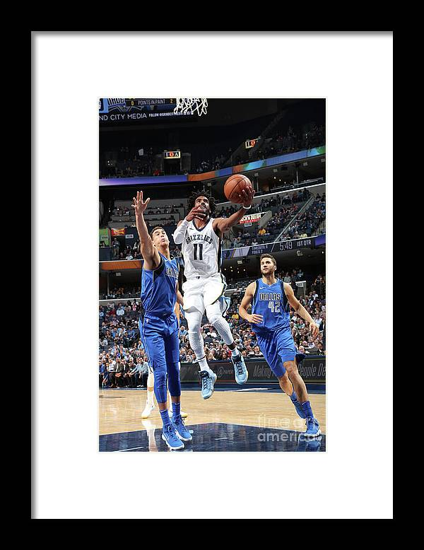 Nba Pro Basketball Framed Print featuring the photograph Dallas Mavericks V Memphis Grizzlies by Joe Murphy