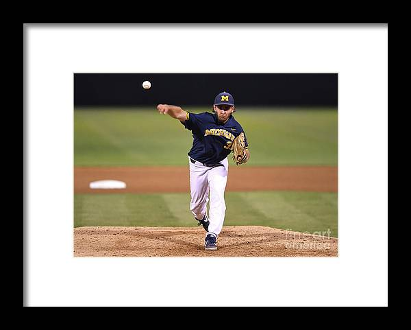 California Framed Print featuring the photograph Michigan V Ucla - Game One by Jayne Kamin-oncea