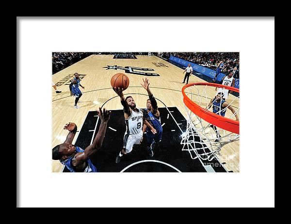 Nba Pro Basketball Framed Print featuring the photograph Minnesota Timberwolves V San Antonio by Mark Sobhani