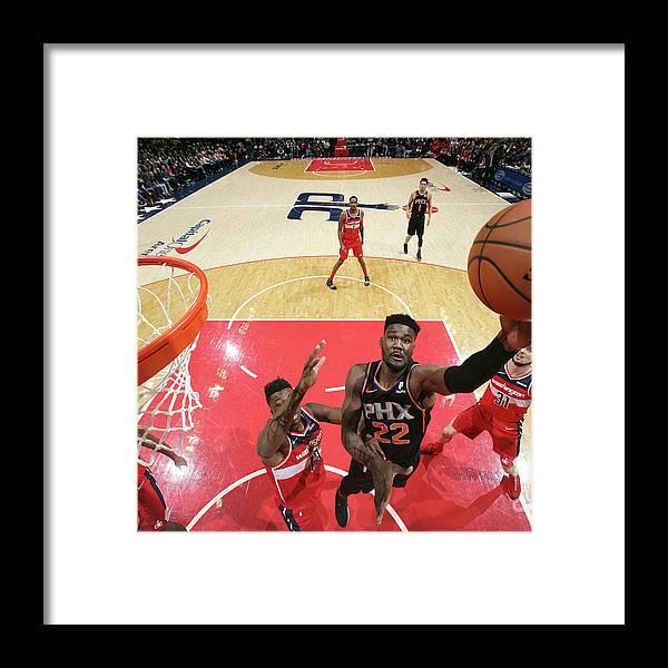 Nba Pro Basketball Framed Print featuring the photograph Phoenix Suns V Washington Wizards by Ned Dishman