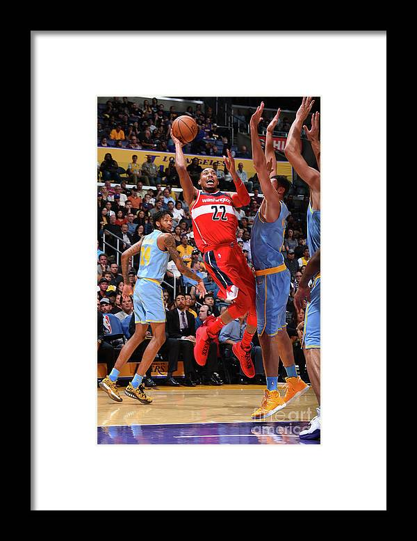 Nba Pro Basketball Framed Print featuring the photograph Washington Wizards V Los Angeles Lakers by Andrew D. Bernstein