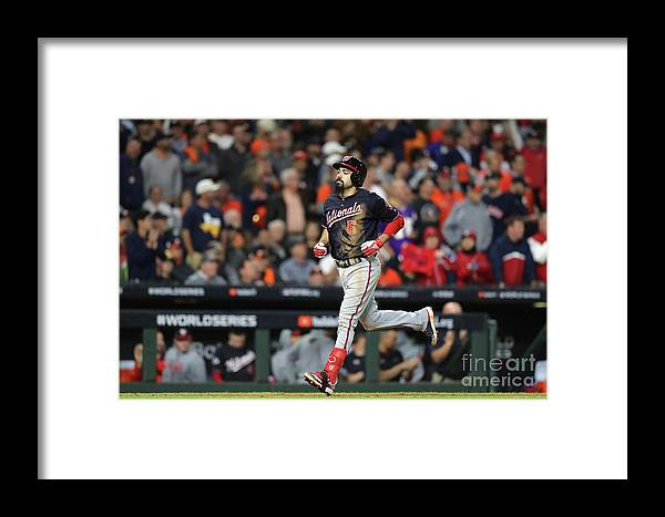 People Framed Print featuring the photograph World Series - Washington Nationals V 17 by Elsa