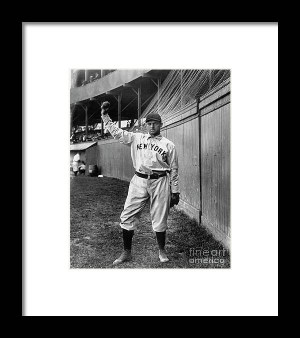 Sports Ball Framed Print featuring the photograph National Baseball Hall Of Fame Library by National Baseball Hall Of Fame Library