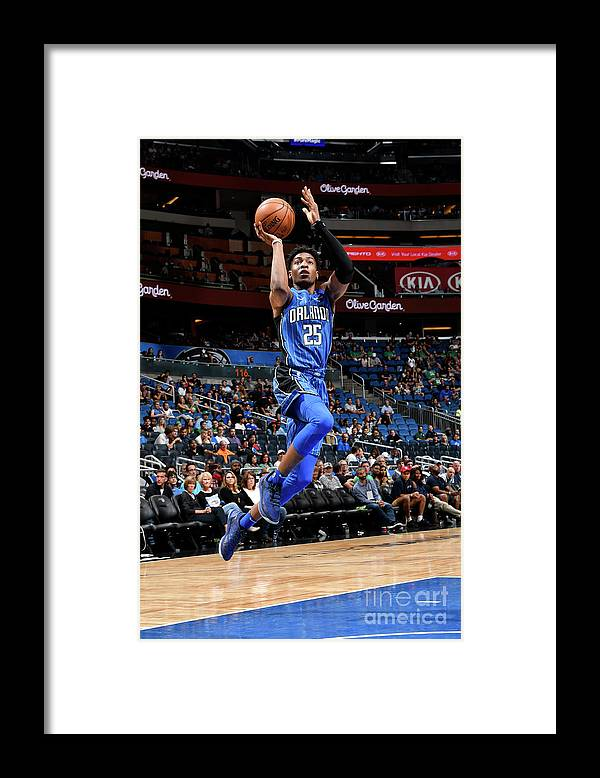 Nba Pro Basketball Framed Print featuring the photograph Boston Celtics V Orlando Magic by Fernando Medina