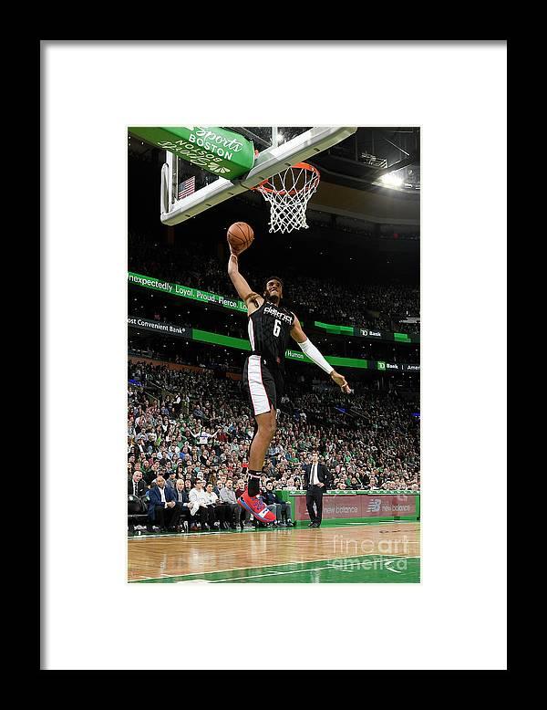 Nba Pro Basketball Framed Print featuring the photograph Washington Wizards V Boston Celtics by Brian Babineau