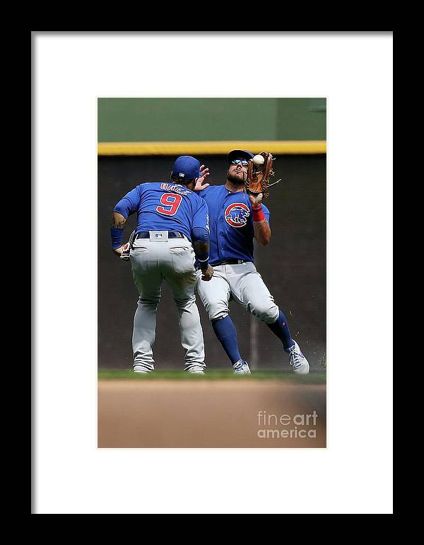 People Framed Print featuring the photograph Chicago Cubs V Milwaukee Brewers 19 by Dylan Buell