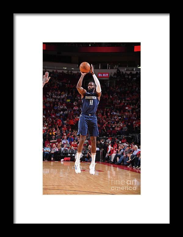 Tim Hardaway Jr. Framed Print featuring the photograph Dallas Mavericks V Houston Rockets by Bill Baptist