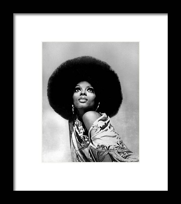 Diana Ross Framed Print featuring the photograph Diana Ross Portrait Session by Harry Langdon