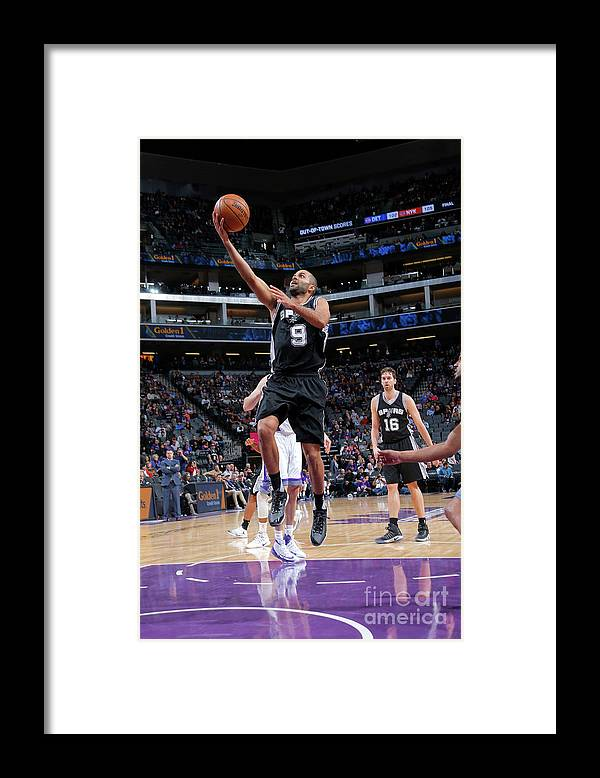 Nba Pro Basketball Framed Print featuring the photograph San Antonio Spurs V Sacramento Kings by Rocky Widner