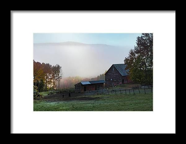 1902 Maple Grove Farm Framed Print featuring the photograph 1902 Maple Grove Farm In Pomfret Vt by Jeff Folger