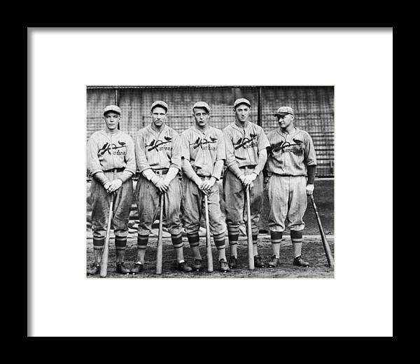 St. Louis Cardinals Framed Print featuring the photograph 1926 St. Louis Cardinals by Hulton Archive
