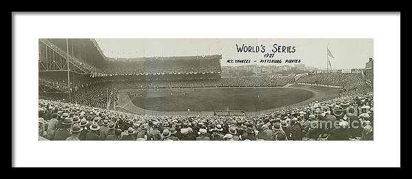 Playoffs Framed Print featuring the photograph 1927 World Series At Yankee Stadium by National Baseball Hall Of Fame Library