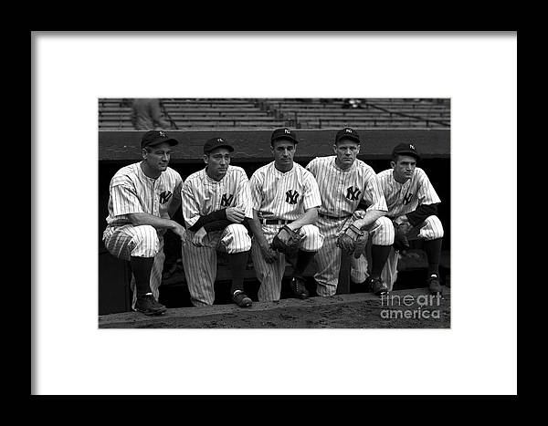 People Framed Print featuring the photograph 1937 World Series - New York Giants V 1937 by Kidwiler Collection