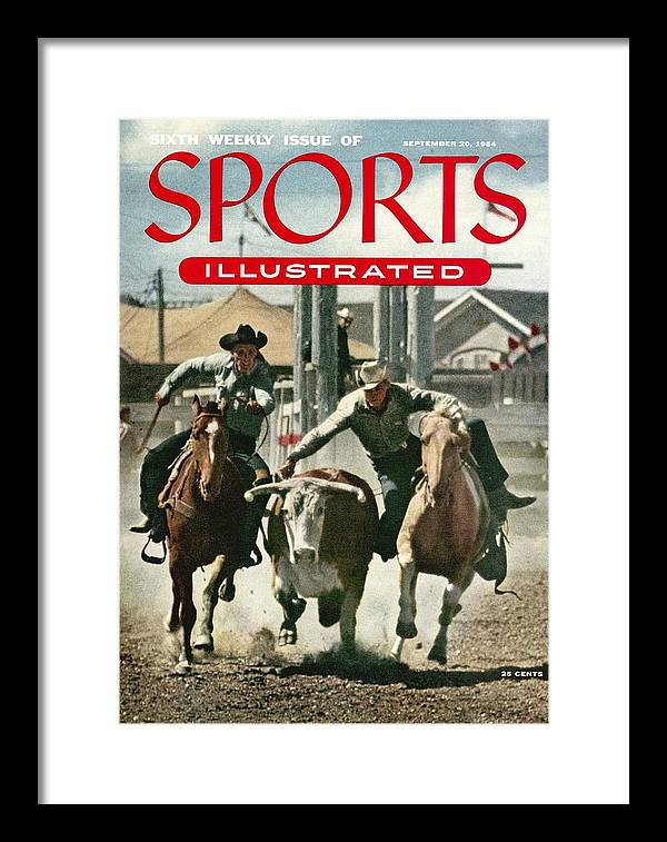 Magazine Cover Framed Print featuring the photograph 1954 Calgary Stampede Sports Illustrated Cover by Sports Illustrated