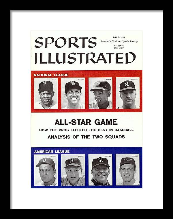 St. Louis Cardinals Framed Print featuring the photograph 1958 All Star Game Preview Sports Illustrated Cover by Sports Illustrated
