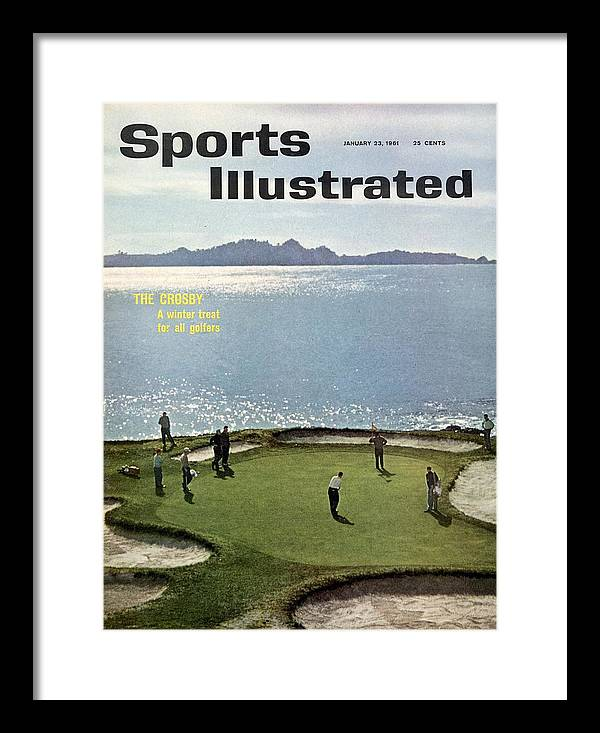 Magazine Cover Framed Print featuring the photograph 1960 Bing Crosby National Pro Am Sports Illustrated Cover by Sports Illustrated