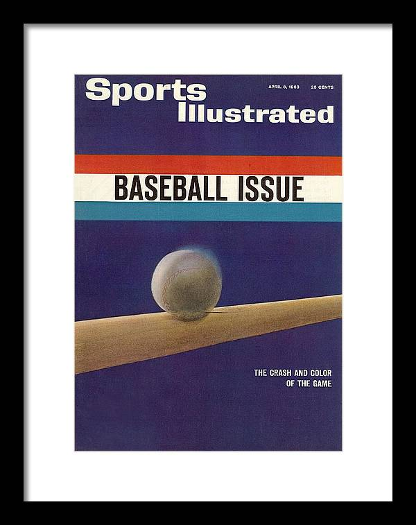 Magazine Cover Framed Print featuring the photograph 1963 Mlb Baseball Preview Sports Illustrated Cover by Sports Illustrated