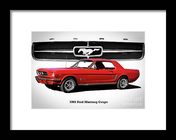 Automobile Framed Print featuring the photograph 1965 Mustang 289 Coupe by Dave Koontz
