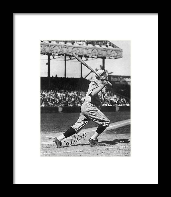 Following Framed Print featuring the photograph National Baseball Hall Of Fame Library 197 by National Baseball Hall Of Fame Library