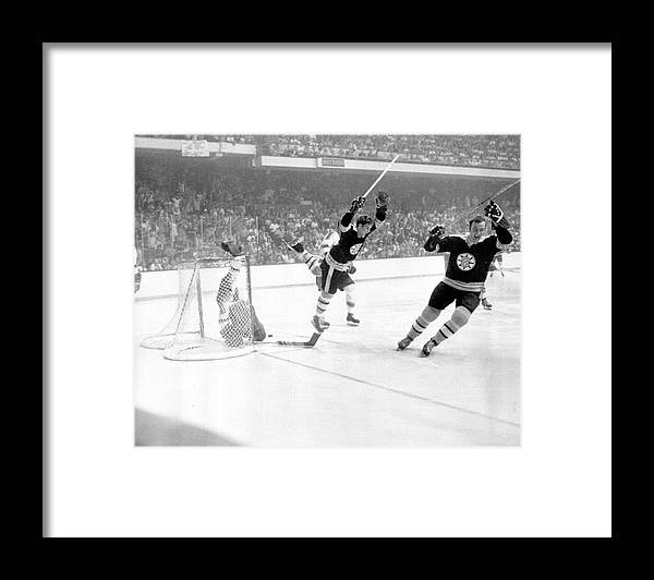 Playoffs Framed Print featuring the photograph 1970 Stanley Cup Finals - Game 4 St by B Bennett
