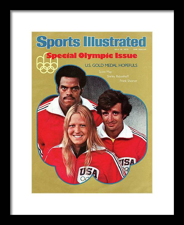 Magazine Cover Framed Print featuring the photograph 1976 Montreal Olympic Games Preview Sports Illustrated Cover by Sports Illustrated